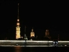 Петропавлвская крепость ночью